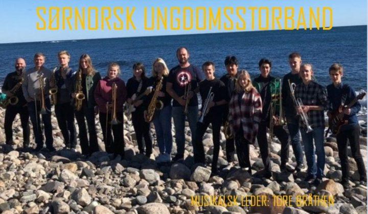 3 konserter med Sørnorsk Ungdomsstorband 23.-24. mars